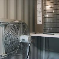 Container VFD/DOL Skid Air Flow
