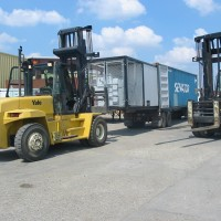 Skid Loading into Container